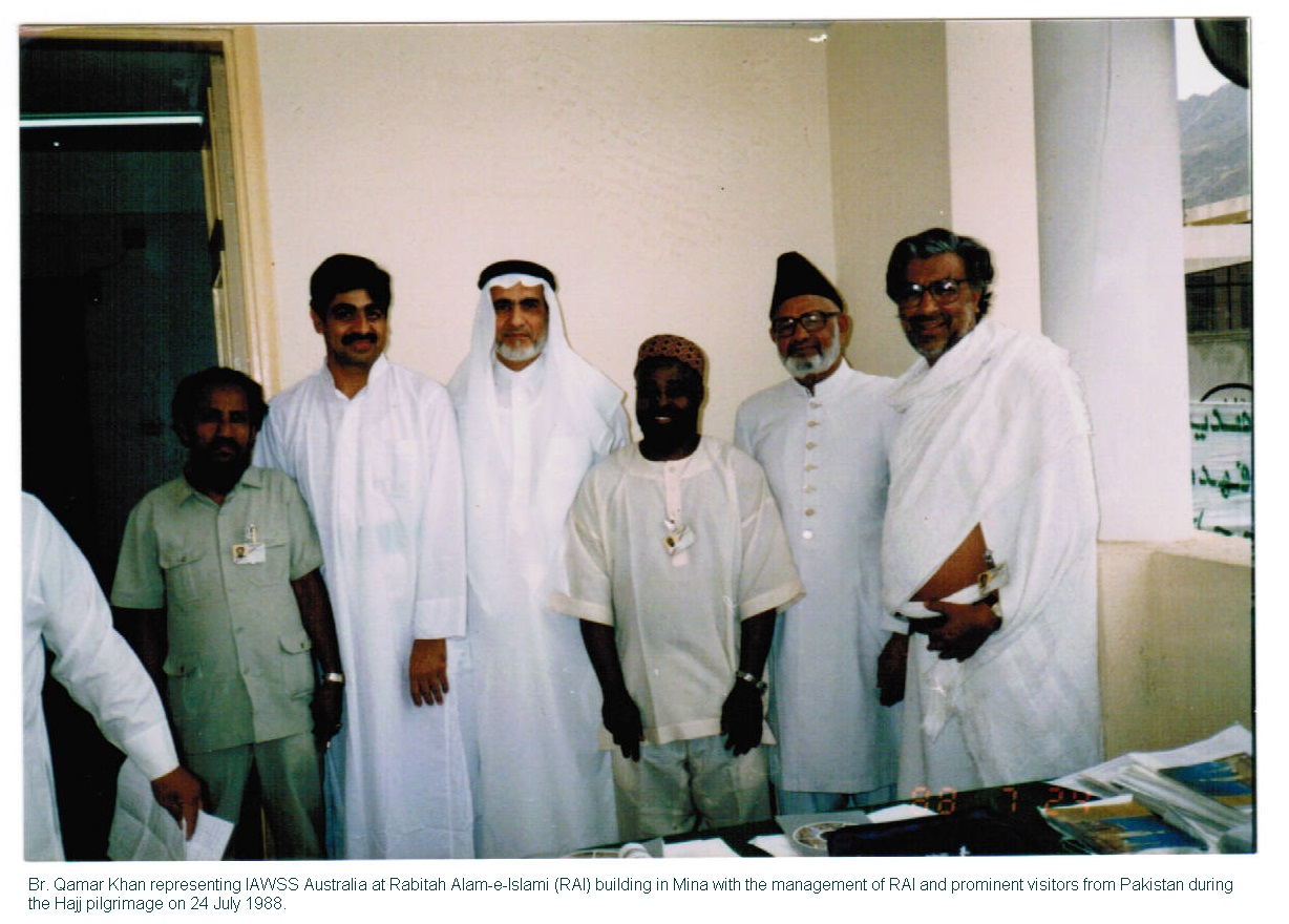 Qamar Khan with RAI Organisors