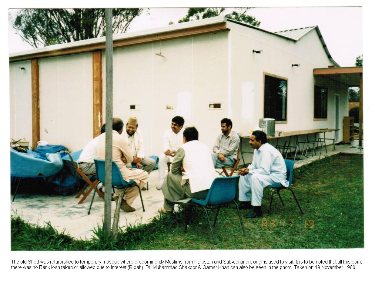 Upgraded Shed to temporary Mosque 1988